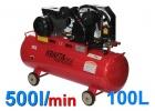 Kompresor olejowy sprężarka kraft&dele 100l kd402