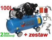 Kompresor olejowy sprężarka 100l olejowa V-0.25/8 RIPPER+zestaw