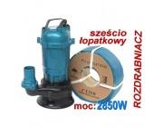 Pompa do wody szamba termik rozdrabniacz kd755 kraft&dele+wąż 2cale x30m