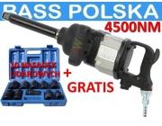 BASS POLSKA BP-4361 klucz pneumatyczny udarowy 1'' 4500nm+10 nasadek !