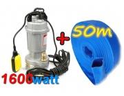 Pompa do wody czystej brudnej szamba KD752 kraft&dele+wąż 1