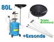 Odsysarka zlewarka wysysarka do oleju 80L+6xsonda