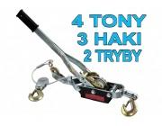 Wciągarka wyciągarka linowa 4 tony 2 tryby 3 haki