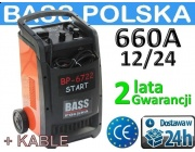 PROSTOWNIK z ROZRUCHEM-660A BASS POLSKA +KABLE-!-