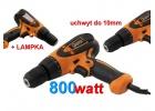 Wkrętarka sieciowa 800W 230V elektryczna 10mm Led