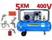 Kompresor olejowy BENSO BS-KO-100L 400V 3,75kW / 5KM + ZESTAW LAKIERNICZY 5el.
