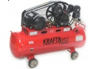Kompresor olejowy sprężarka KD404 kraft&dele 100 litrów-400V+zestaw lakierniczy 5el