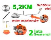 Kosa spalinowa podkaszarka 5,2km 3xolej system antywibracyjny PM-KS-520HAV 5,2KM REDVIB 2