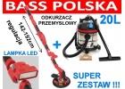 SZLIFIERKA ŻYRAFA DO GIPSU+LAMPKA BASS POLSKA 5061+ODKURZACZ 20L