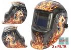 Maska spawalnicza przyłbica samościemniająca ogień