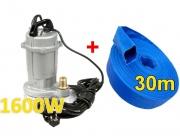 Pompa do wody czystej brudnej szamba KD753 kraft&dele+wąż 1 cal 30m