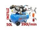 Kompresor olejowy sprężarka 50l 2 tłoki ripper+zestaw