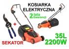 Kosiarka elektryczna do trawy 2200W +sekator