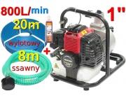 pompa spalinowa motopompa WP10+8m+50m+węże do wody 1