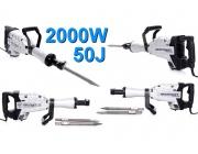Młot EC1508 udarowy wyburzeniowy 2000W 50J mocny