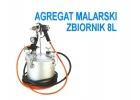 Agregat malarski pistolet zbiornik ciśnieniowy 8L