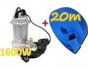 Pompa do wody czystej brudnej szamba KD753 kraft&dele+wąż 1cal x20m