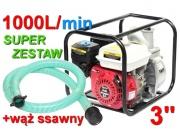 pompa spalinowa motopompa KD771 kraft&dele+wąż ssawny do wody
