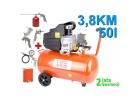 Kompresor olejowy sprężarka 50L 3,8km+zestaw lakierniczy