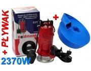 Pompa do wody czystej brudnej szamba H00601-2370W+wąż 1