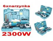Gwintownica elektryczna 2300W do rur + 6 narzynek