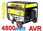 Generator agregat prądotwórczy 4800W 230V 12v AVR